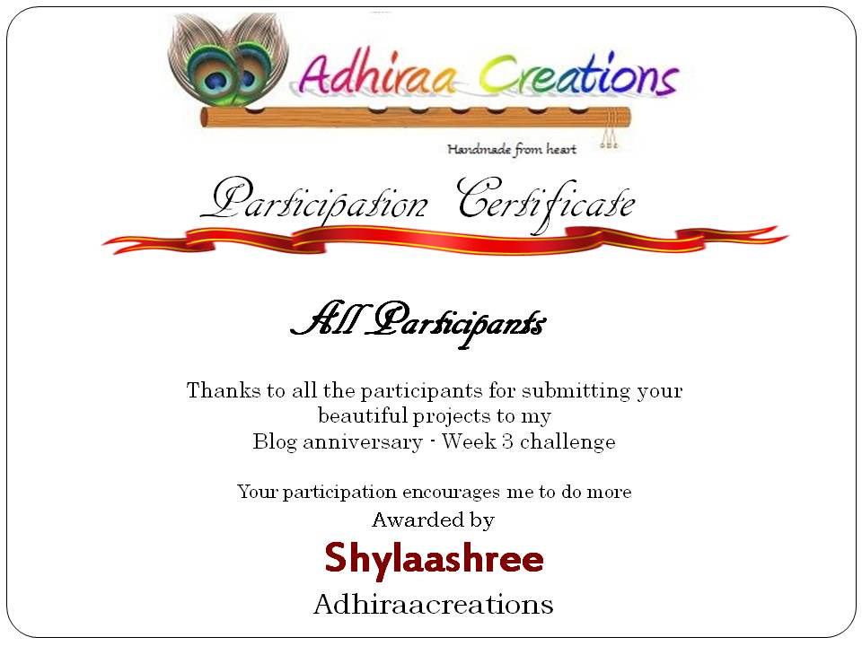 Adhiracreation's Participation Badge