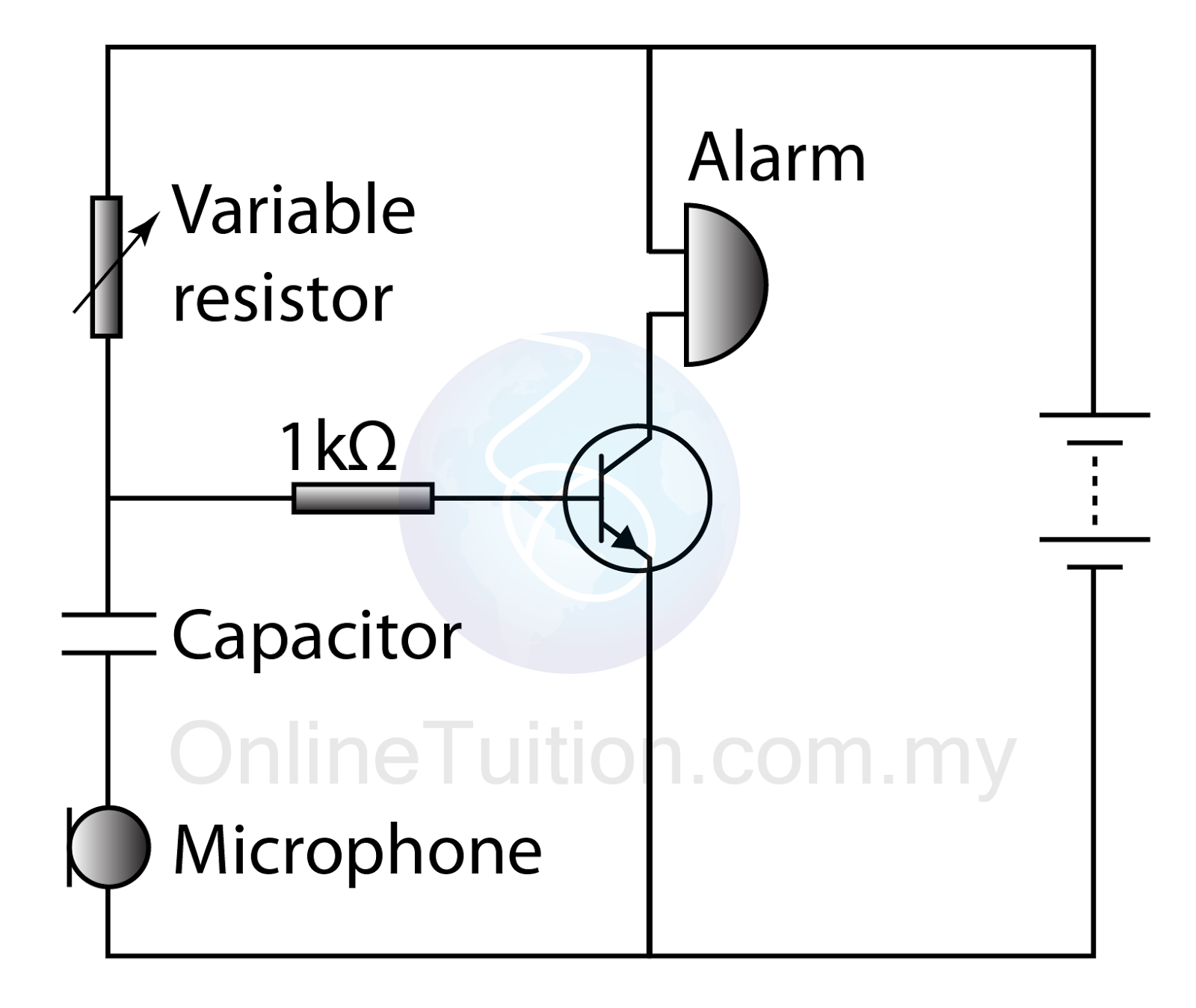 Transistor As An Automatic Switch Sound Controlled Spm Variable Resistors Circuit Figure Above Shows The Design Of A