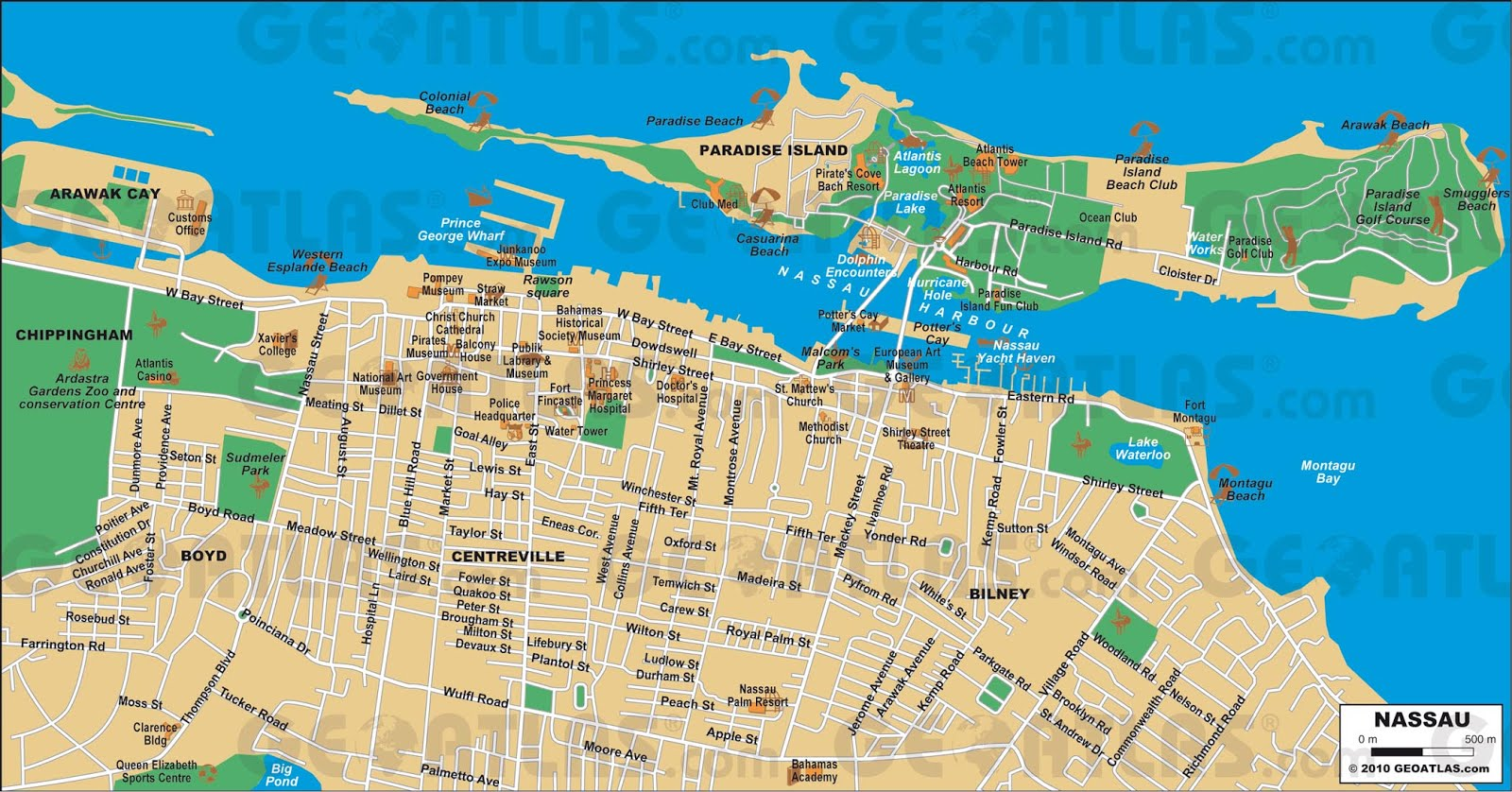 Mapas De Nassau Bahamas Mapasblog