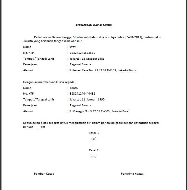 surat kuasa sewa menyewa salah satu contoh template surat kuasa dan