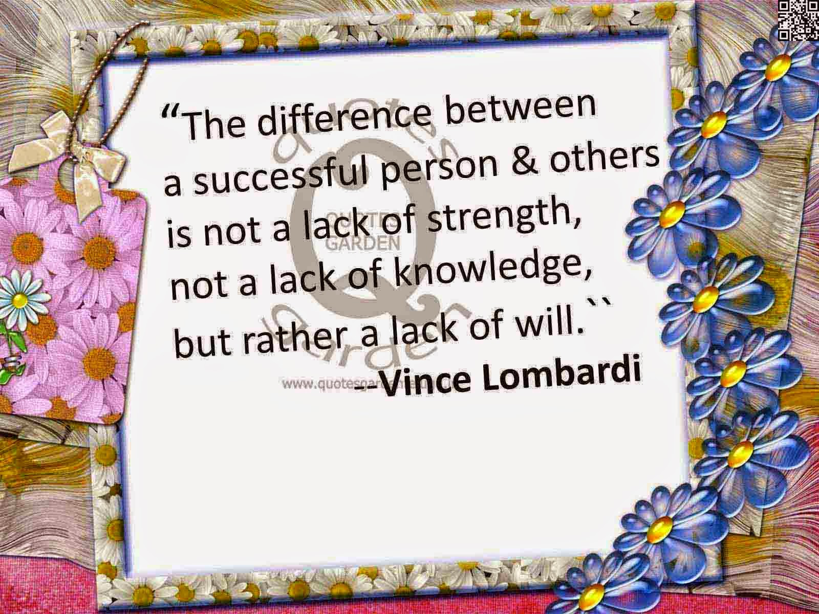 Best inspirational Quotes on Success by Vince Lombardi