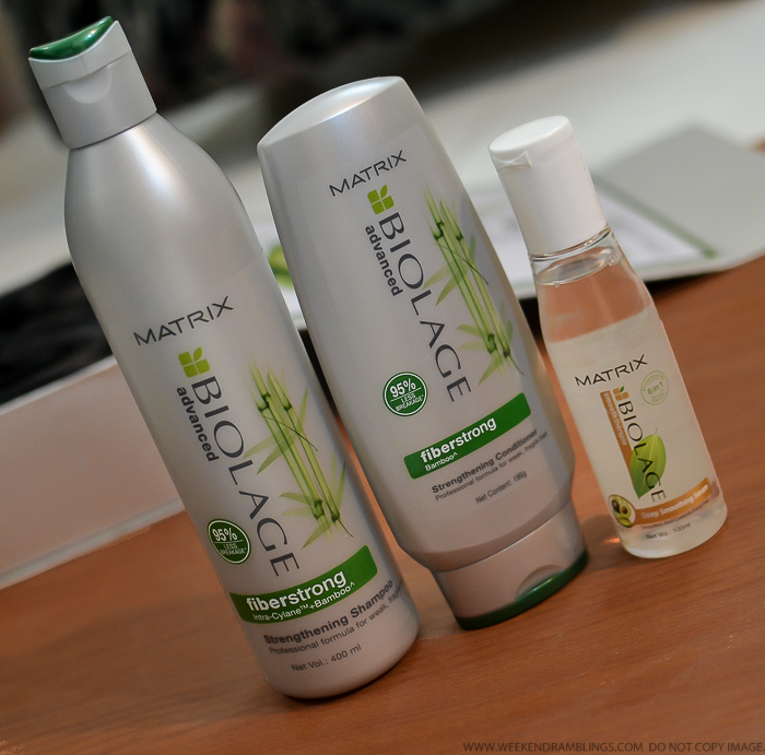Matrix Biolage Advanced Fiberstrong Haircare Strengthening Shampoo Conditioner Deep Smoothing Serum Review