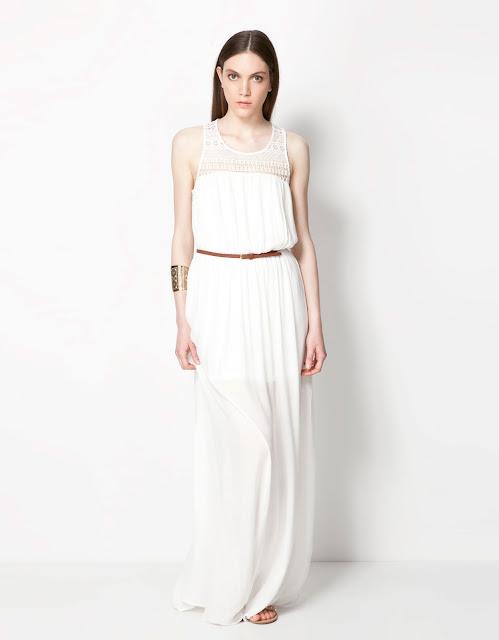kemerli, omuzları dantel detaylı elbise uzun elbise