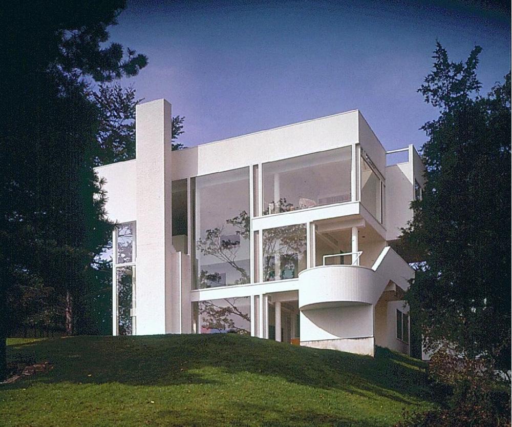 Richard meier smith house modern design by for Meyer architecture