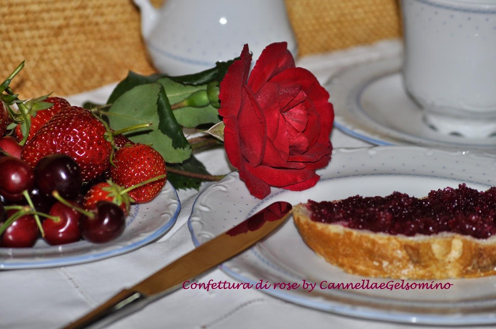 confettura di rose rosse