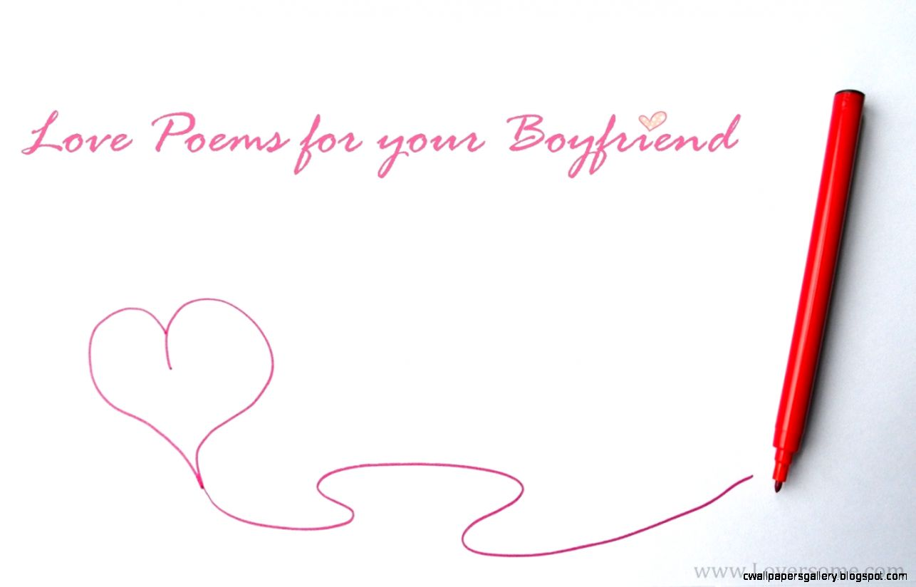 Love poems for your boyfriend that will make him smile
