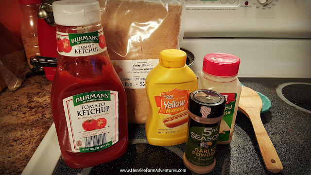 Lentil Sloppy Joes ingredients  www.hensleefarmadventures.com