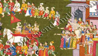 Rama leaves for forest, Dasharatha grieves