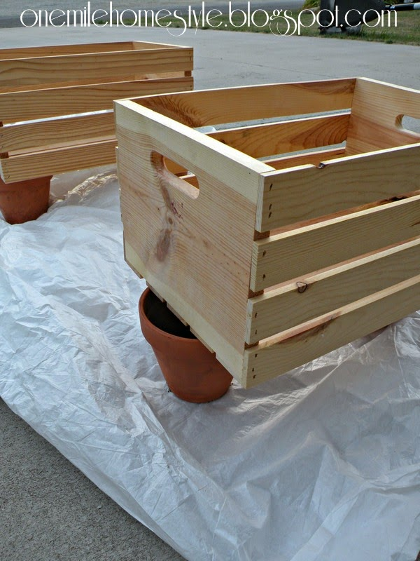 Unfinished Wooden Crates for Entry Closet Shoe Organization