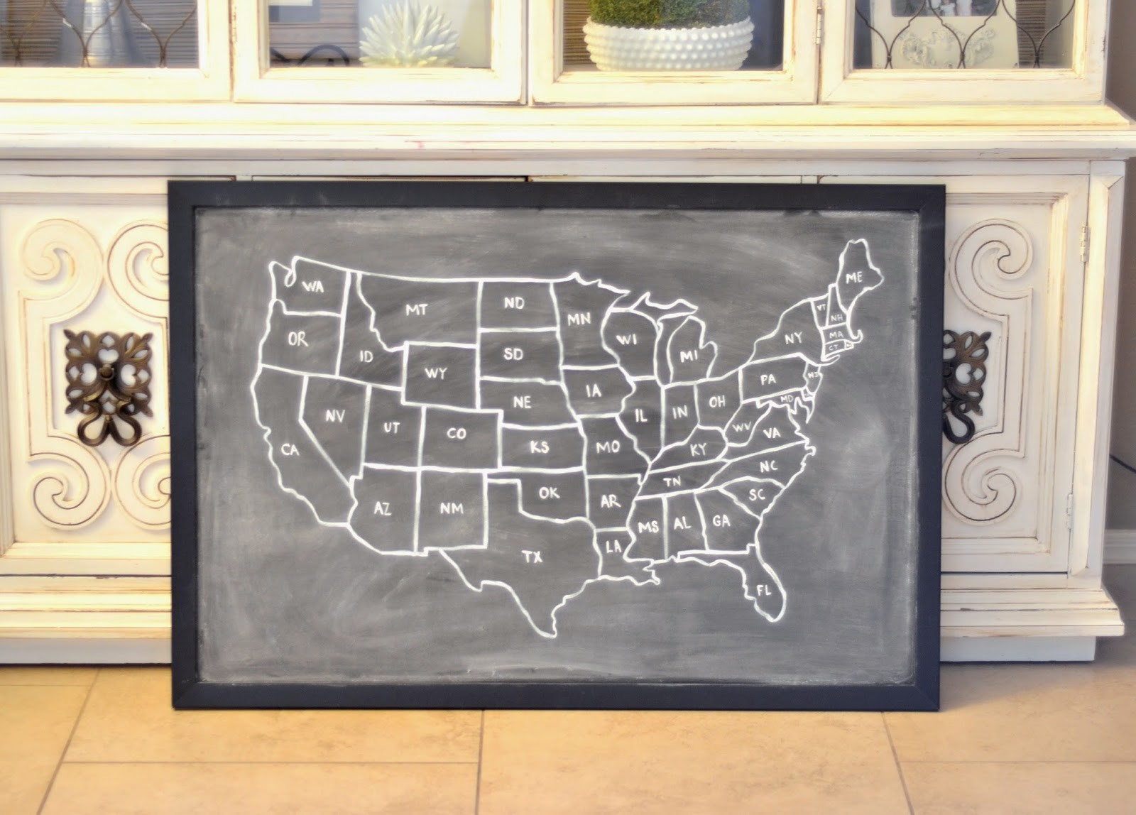 All You Need Is Love And Paint Diy Chalkboard Map