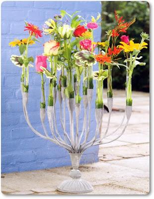 blomstrande kandelaber, blomstrande ljusstake
