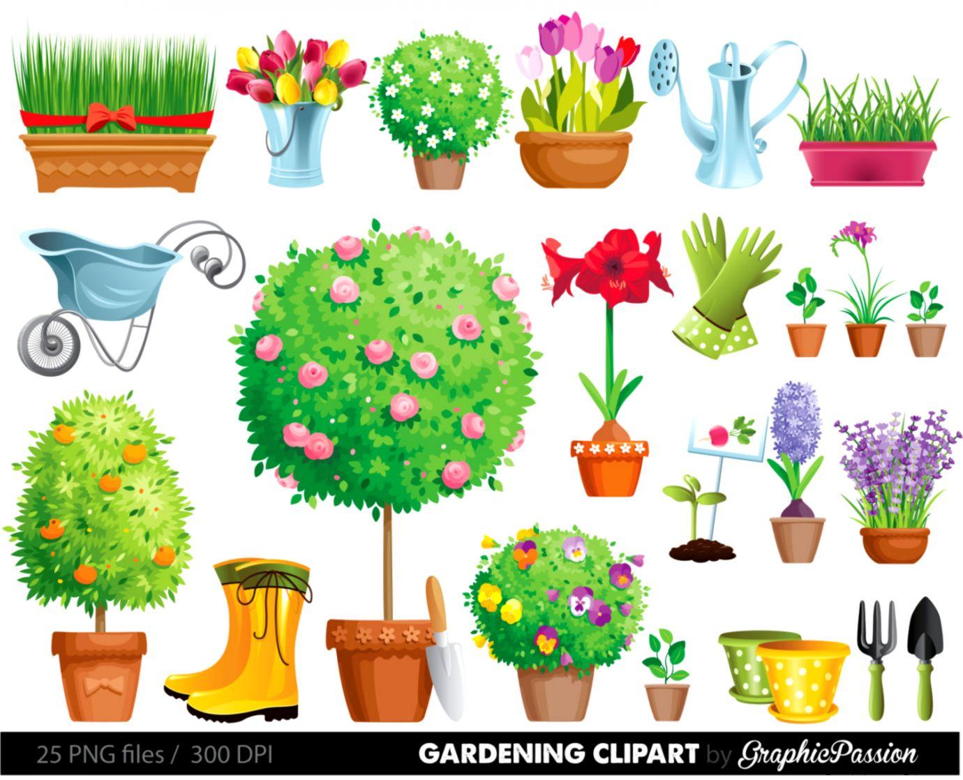 Garden Clipart Gardening Clipart garden tool by GraphicPassion