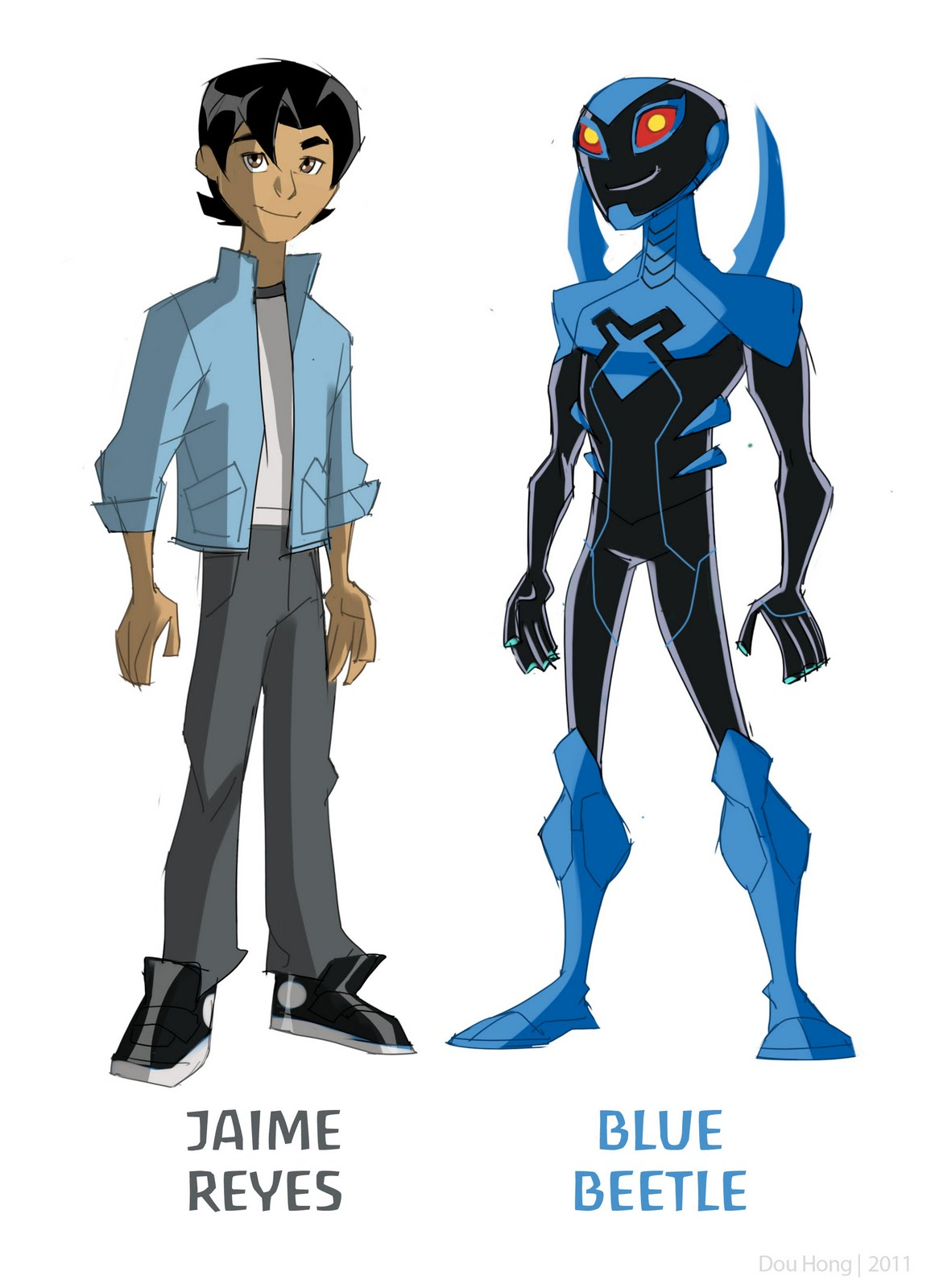 Dou Hong: 79. Blue Beetle Animated