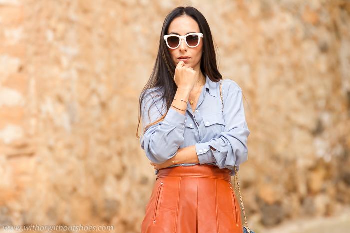 Bloguera de moda y belleza de Valencia con total look Zara y sandalias Jimmy Choo