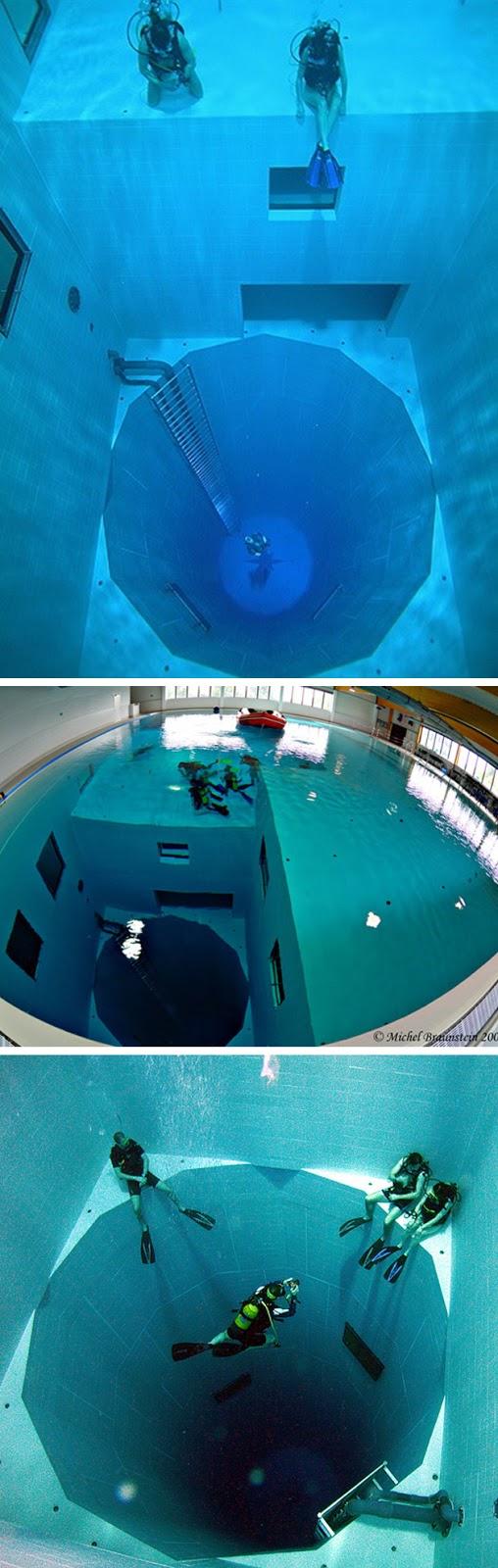 Conversa franca piscina mais funda do mundo for Funda para piscina