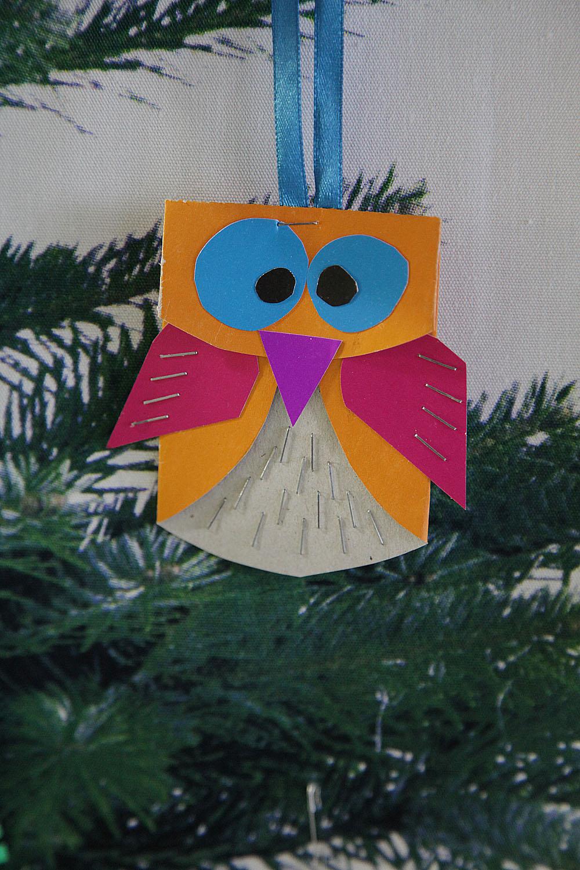 сова на елку