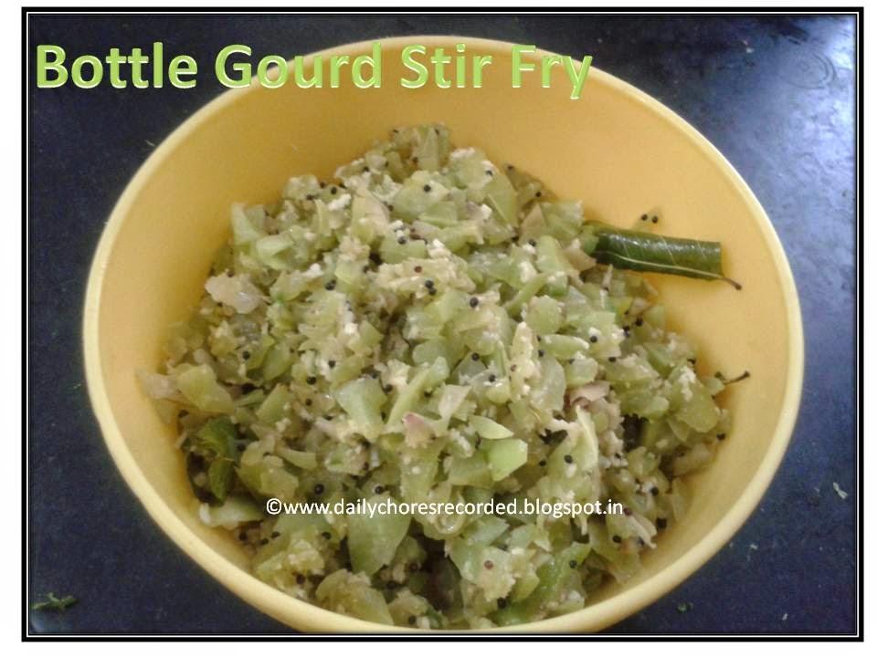 Bottle Gourd Stir Fry