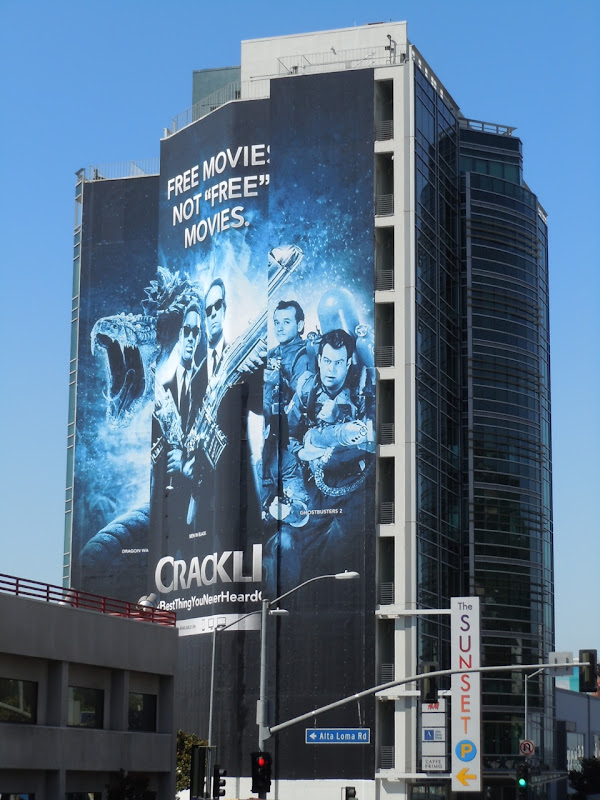 Crackle free movies billboard Sunset Strip