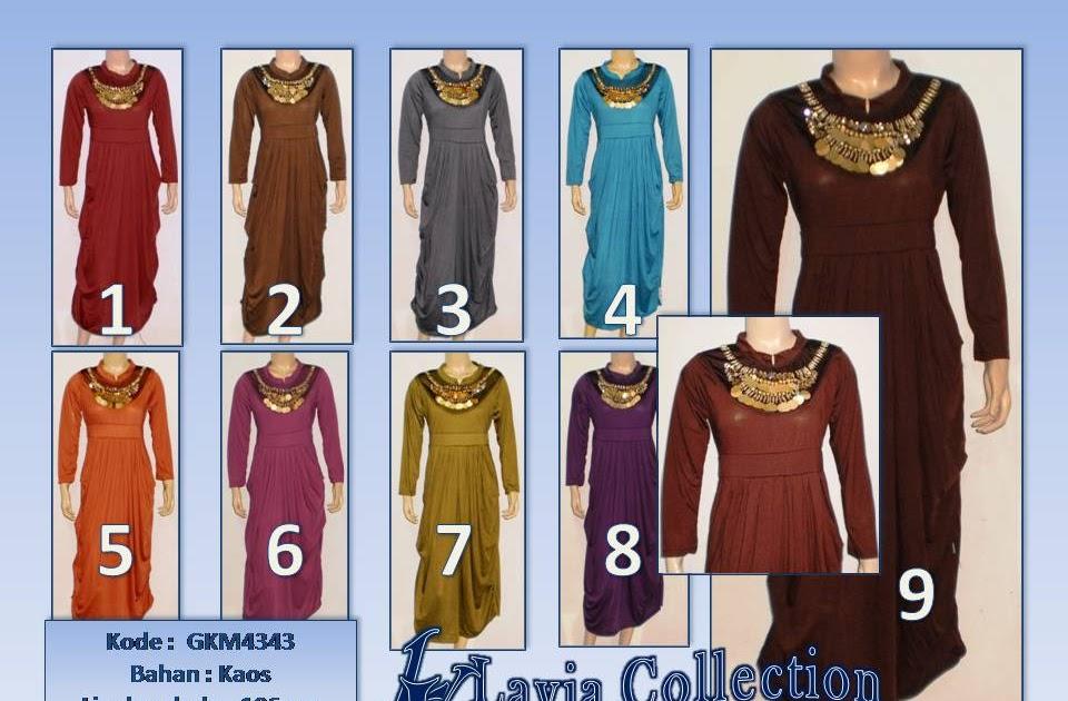 Grosir Busana Muslim Big Size Baju Pesta Murah Gkm4343