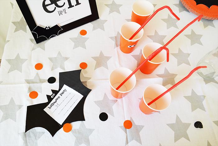 bicchieri di halloween decorato con occhi