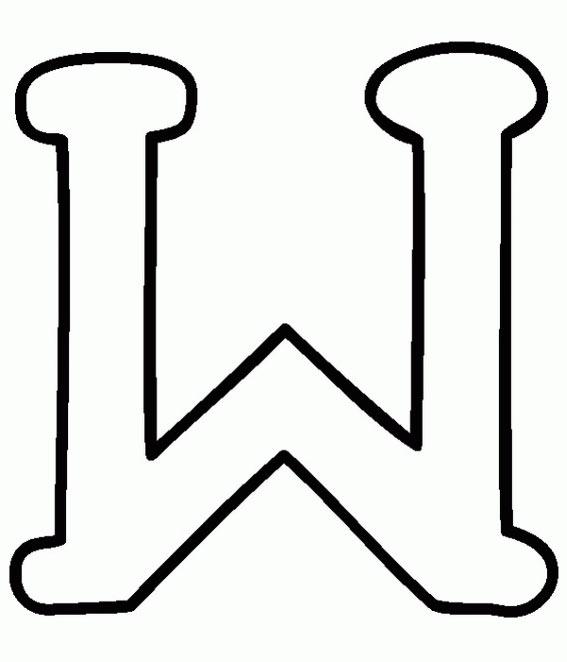 dibujos y colorear: las letras W, la X, la Y y la Z