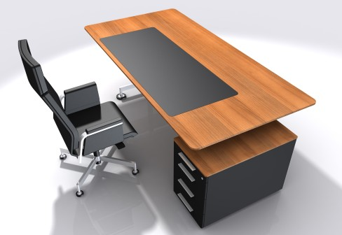 Modern office table chair furniture designs an interior for Table bureau design