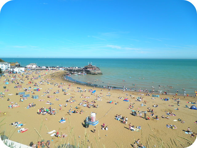 broadstairs beach, Silent Sunday, folking fun