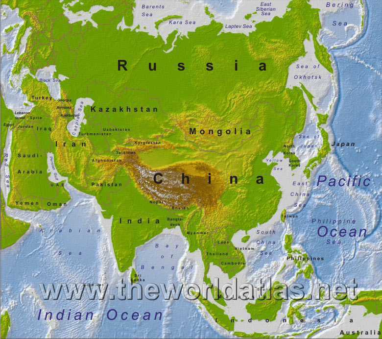 geographic areas of asia