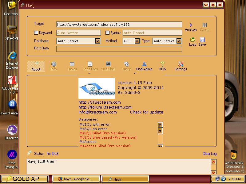 Sql injection hack tool download