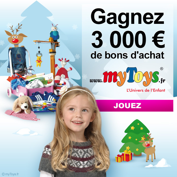 60 bons d'achat de 50 euros sur les jouets myToys