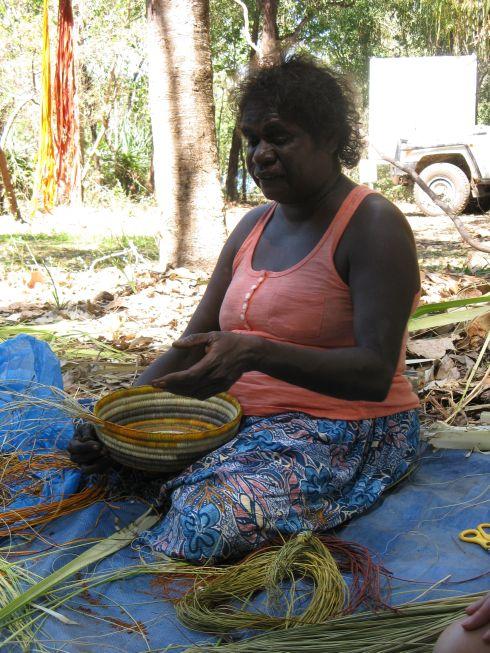 Basket Weaving Aboriginal : Gone to smell the roses australia kakadu national park