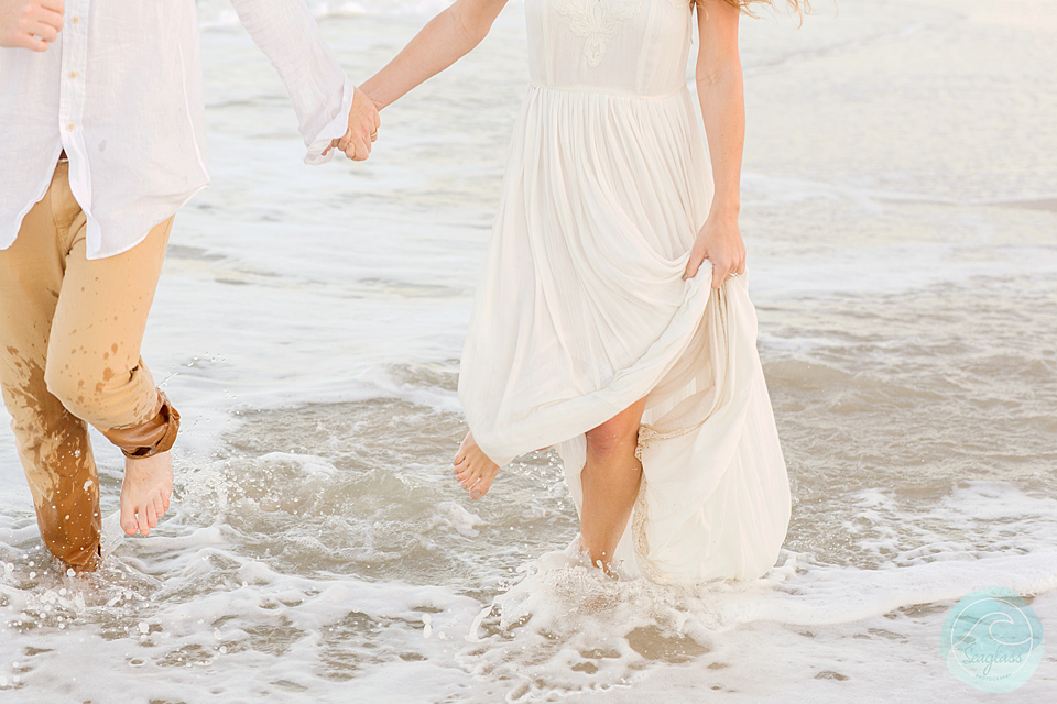 Boho Wedding Dress Florida : Boho beachside wedding style shoot seaglass photography