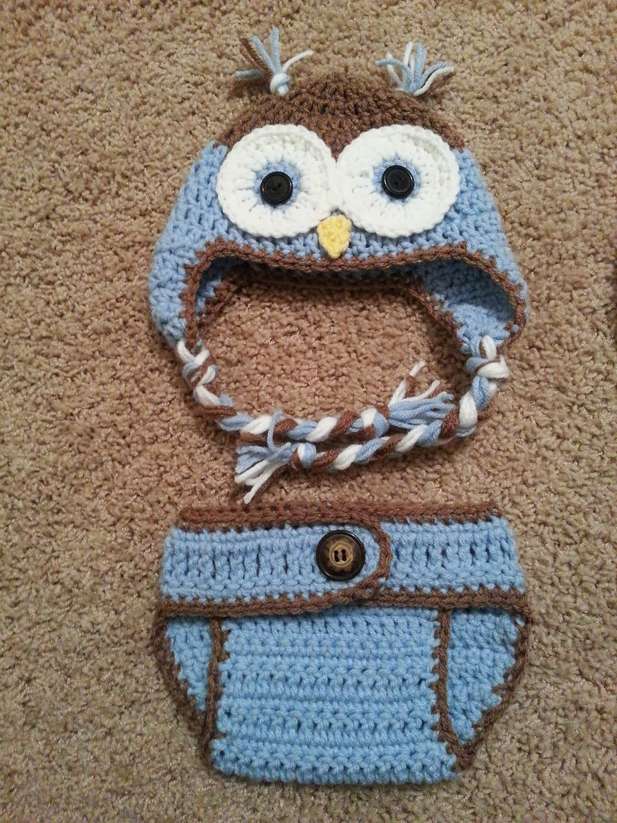 Free Crochet Owl Hat And Diaper Cover Pattern : Craft Me This Crochet: Owl Hats and Diaper Covers