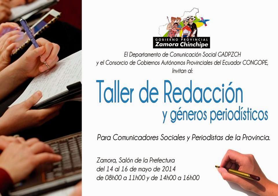 Zamora chinchipe taller de redacci n period stica se for Oficina de turismo de zamora