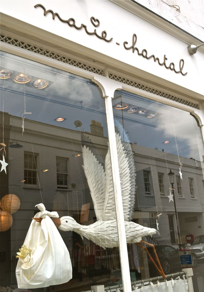 Benton tilley london shop decorations celebrating baby for Baby shop decoration ideas