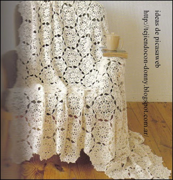 Patrones de colchas tejidas a crochet car interior design - Colchas tejidas a crochet ...