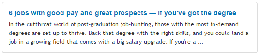 6 jobs with good pay and great prospects — if you've got the degree