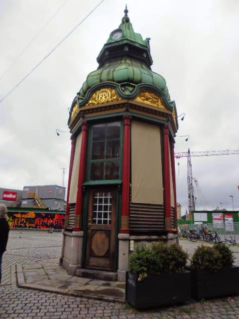 Antiguo quiosco en la Plaza Kongens Nytorv