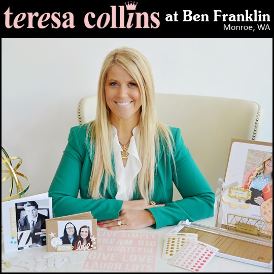 Teresa Collins will be at our store on October 17, 2014!