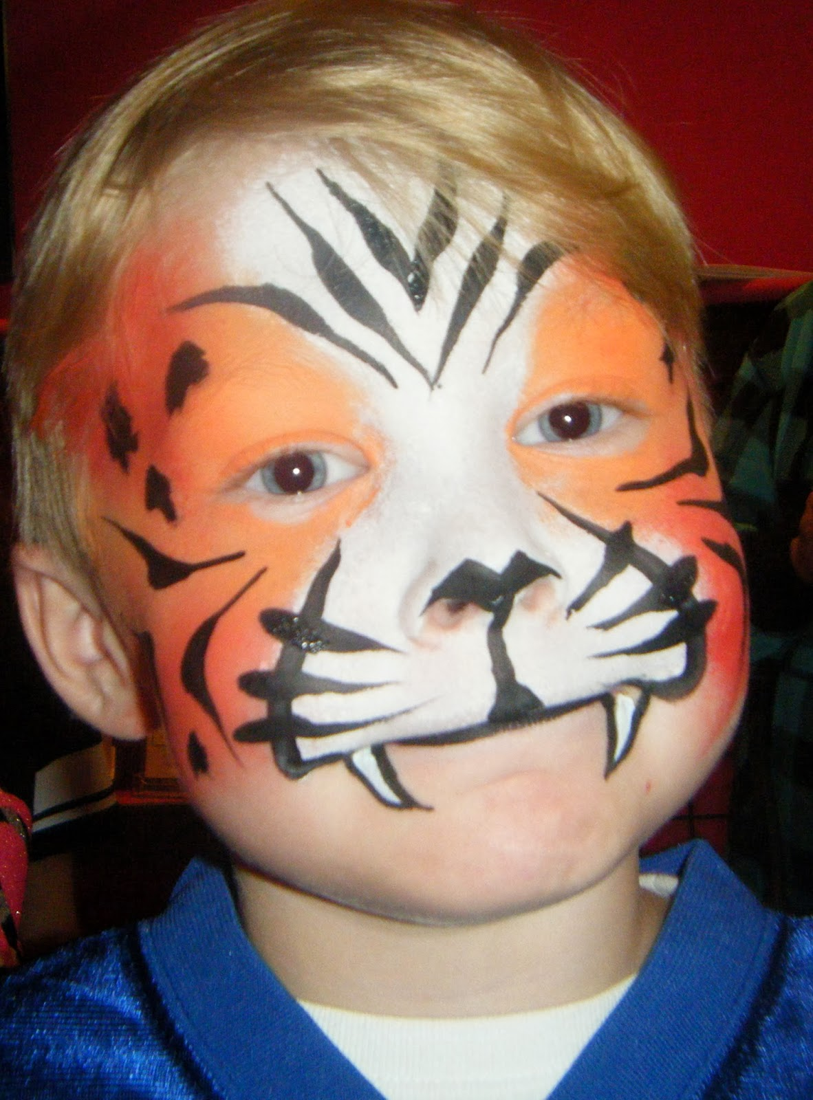 Easy tiger face paint - photo#17