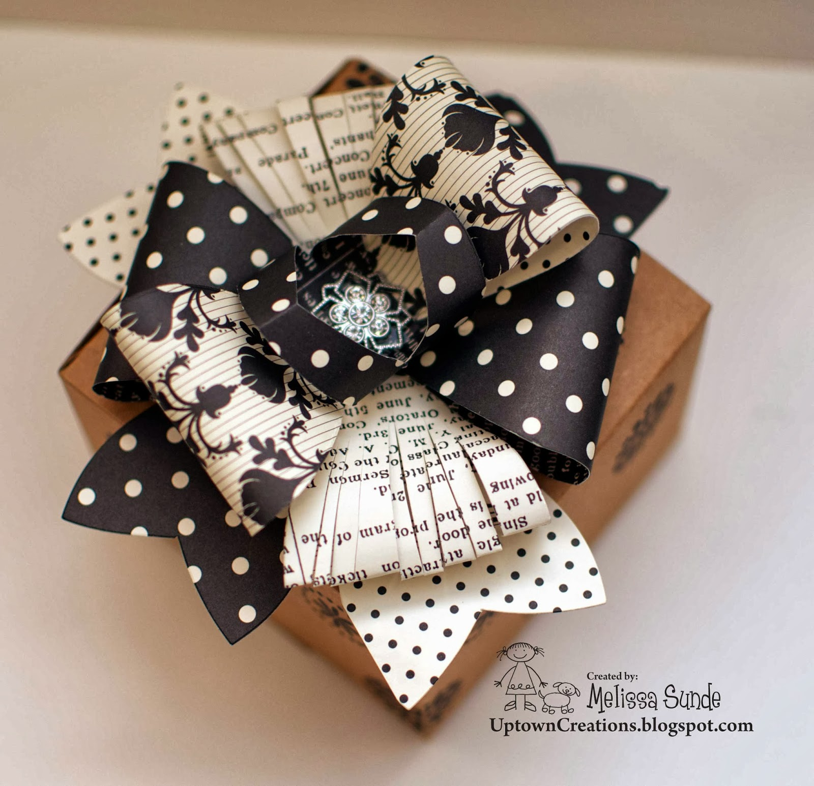 Wow check out the bows we made all done using the new gift bow big