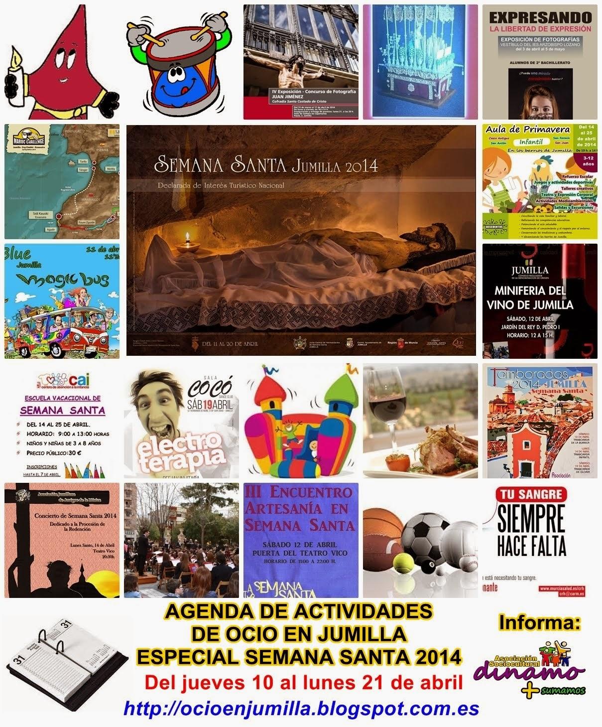 PROGRAMA DE ACTIVIDADES DURANTE LA SEMANA SANTA DE JUMILLA 2014