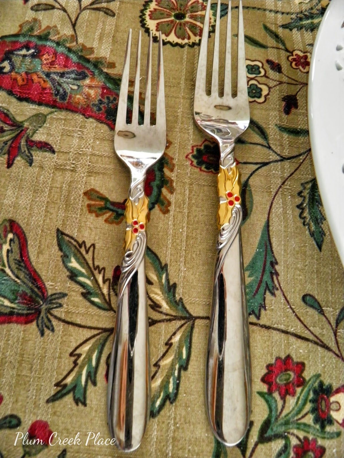 Yamazaki Holiday Bouquet Flatware, Christmas Flatware