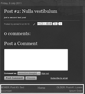 change blog pager to post title on blogger