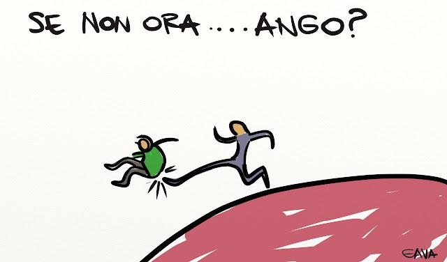 Gava gavavenezia vignette satira illustrazione caricatura illustrazioni fumetto orango calderoli kjenge