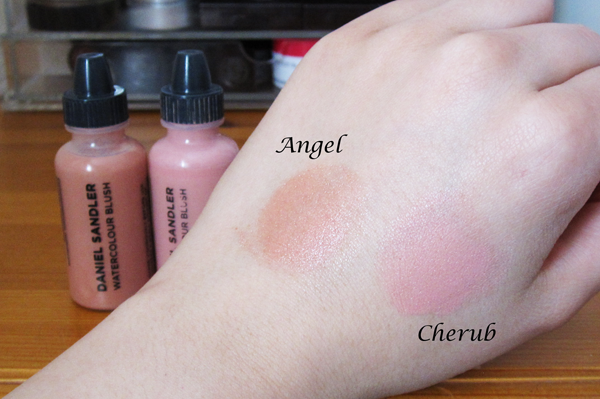 A picture of Daniel Sandler Watercolour Blush Cherub and Angel swatches