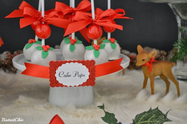 Christmas Baby Deer Party Cake Pops by BistrotChic