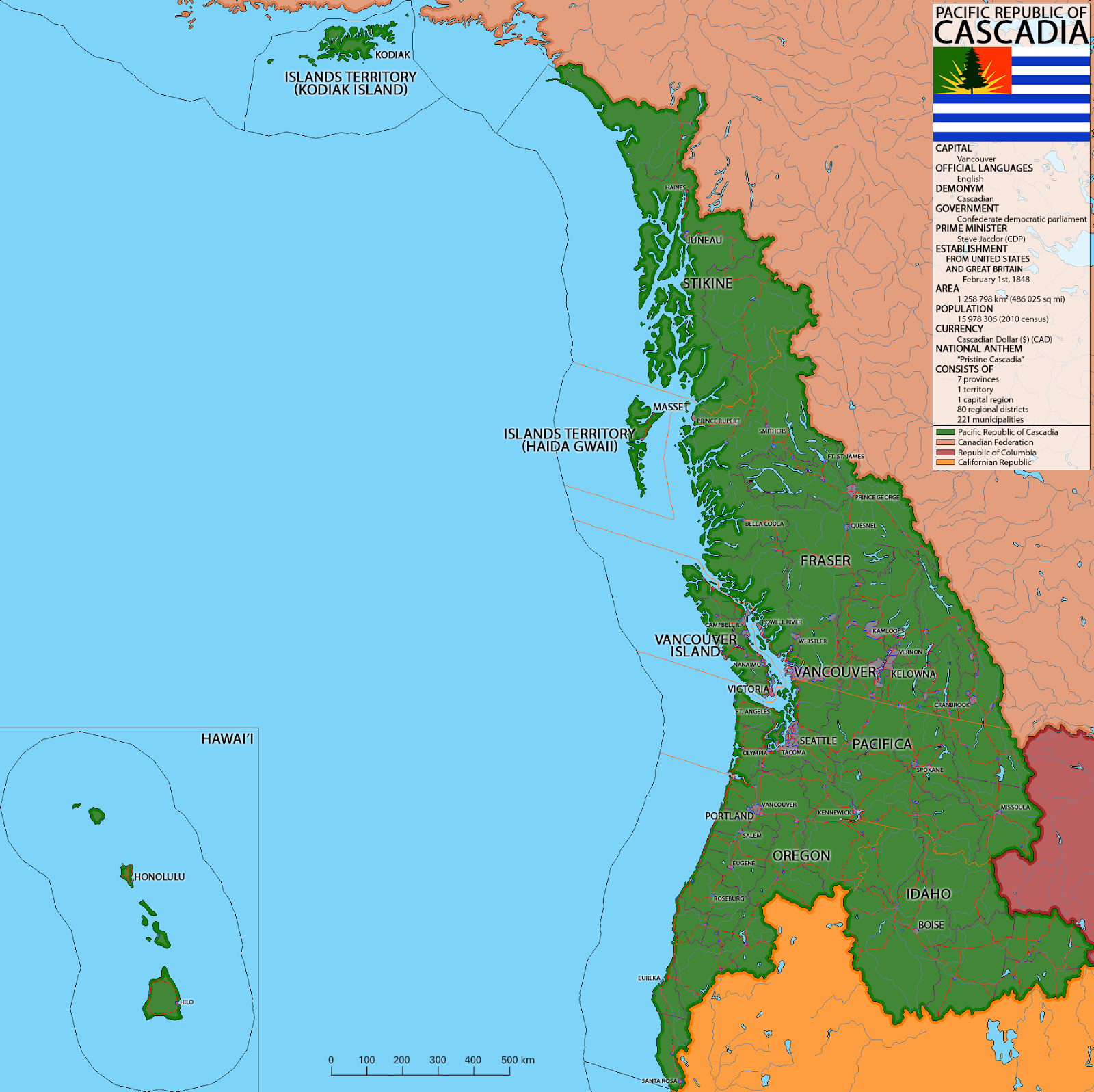 alternate history weekly update map monday the pacific republic