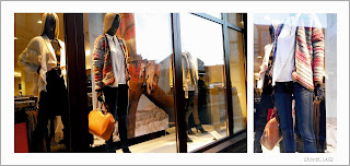 visual merchandising, shopping window, winter collection, ladies collection, Legnica, colourfull