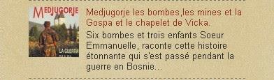 Medjugorje les bombes,les mines et la Gospa et le chapelet de Vicka.